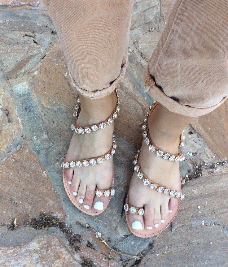 A personal favorite from my Etsy shop https://www.etsy.com/listing/277693070/greek-sandals-handmade-wedding-swarofski