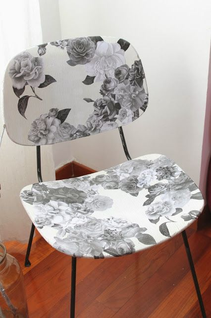 #Sedia #DIY #Roses #chair #decoupage #craft