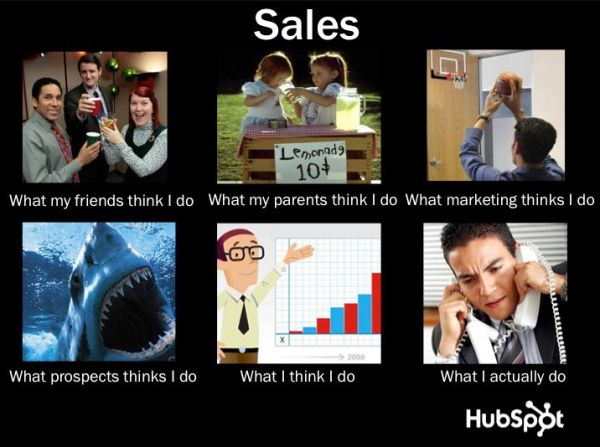 {Sales}  'What People Think I Do/What I Really Do' Meme for HubSpot