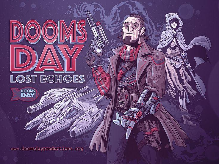 """Portada de """"Doomsday, Lost Echoes"""", aventura conversacional para Amstrad: https://doomsdayproductions.org"""
