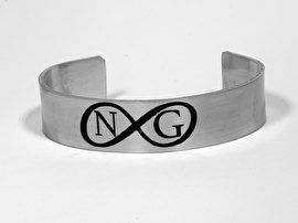RVS ARMBAND MET #SYMBOOL VOOR #ONEINDIGHEID, #INFINITY #ARMBAND MET #INITIALEN http://www.sieradenmeteenverhaal.eu/a-42822835/handgemaakte-persoonlijke-tekst-sieraden/rvs-armband-met-symbool-voor-oneindigheid-infinity-armband-met-initialen/