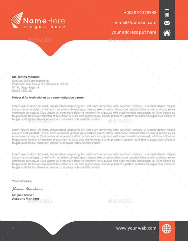 The 25+ best Business letter head ideas on Pinterest Sample - design account manager sample resume