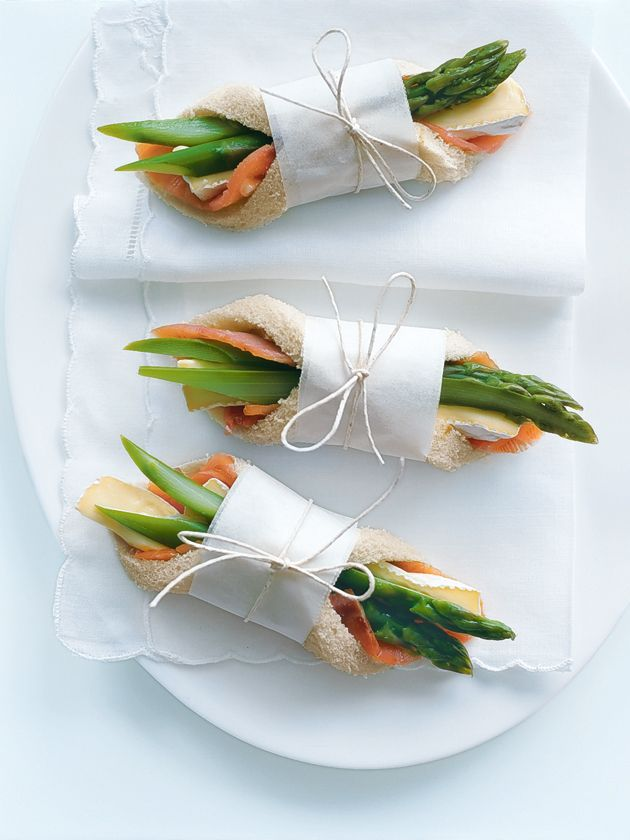 """Fancy Finger Food"", such as Salmon Brie and Asparagus Fingers................  in my latest article in ""The Wanderlust Food Diaries"", Esperanza Spalding at Ravinia Outdoor Theater, Chicago (and my quest for the perfect date)"