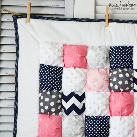 Samantha Puff Quilt READY TO SHIP by HoneybearLane on Etsy, $150.00