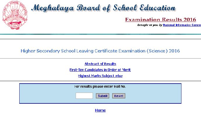 Meghalaya Board 12th result 2016,Meghalaya Board SSLC result 2016,megresults.nic.in,MBOSE HSSLC result 2016,Meghalaya HSSLC result 2016,Exam result 2016,Result Meghalaya Board 12th result 2016:- The board of Meghalayahas released 12th Class Science result on its main official website. candidates who have givenexamination of MBOSE 12th Science exam which was held in March month in various exam centers …
