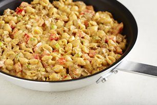 """VELVEETA Shells & Cheese Cheeseburger Mac"". -- Like Hamburger Helper, but better!"