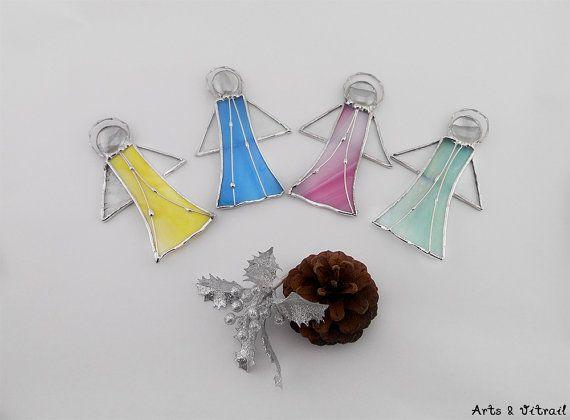 Anges en vitrail choisissez 1 2 ou 3 anges aux par ArtsVitrail