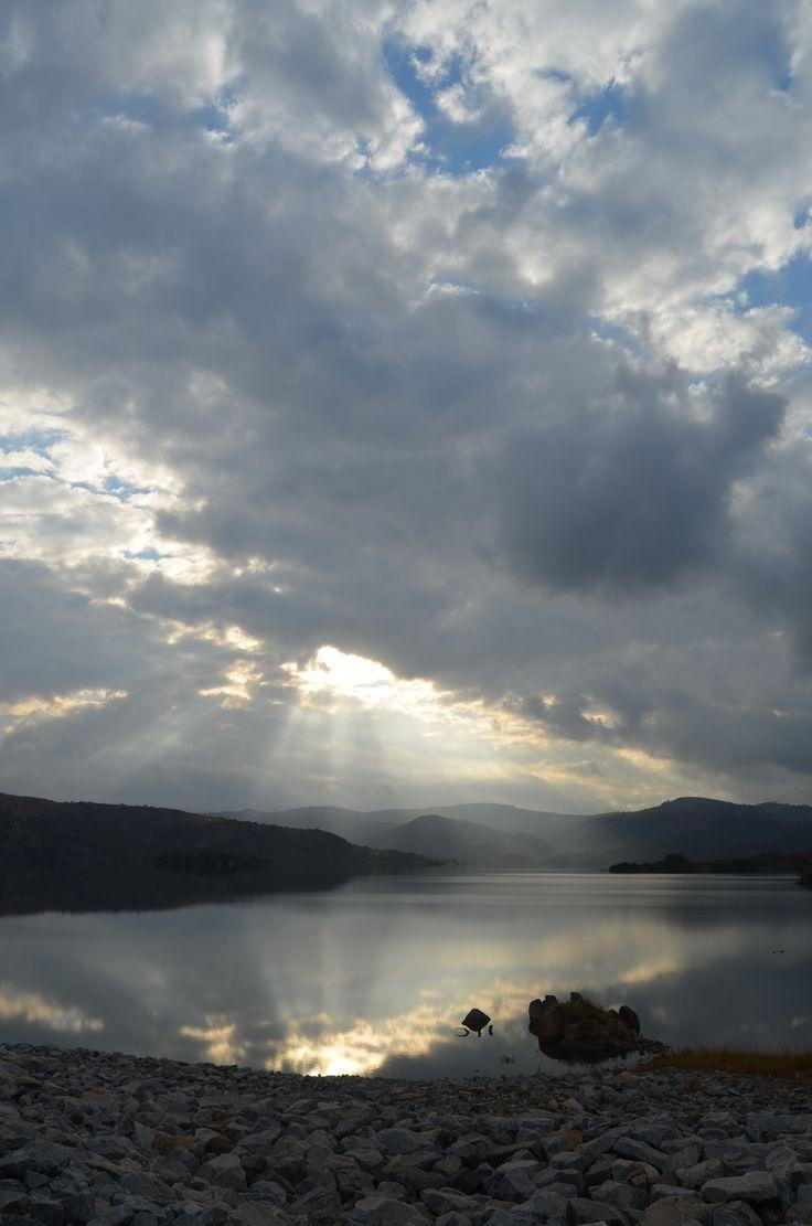Moody sky over Maguba Dam, Swaziland. By Rosemary Hall
