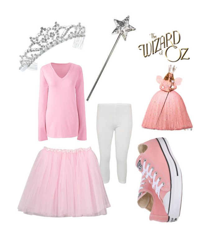 """Modern DIY Glenda the good witch costume"" by ichelle-montoya on Polyvore featuring Kate Marie, Lands' End, WearAll, Converse and modern"