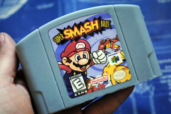 N64 Super Smash Bros Cart Soap: Retro and geeky by NerdySoap