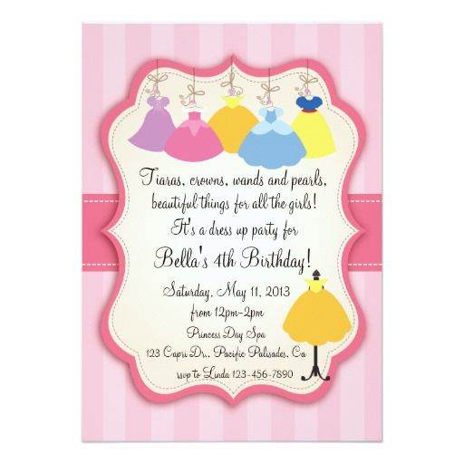 389 best Dress up Birthday party Invitations images – Invitation for the Birthday Party