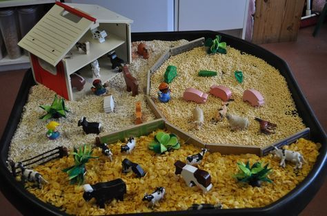 Why not try this simple but effective top EYFS activity that incorporates sensory play as well as small world play. It is for all ages of children