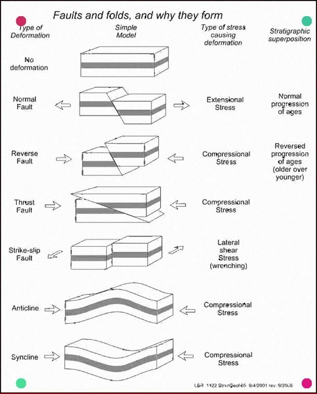 Faults And Folds And Why They Form Rocks Rock Sandstone Earth Ignusrocks Geologystudent Geologyrocks Geol Geology Geology Teaching Earth Science