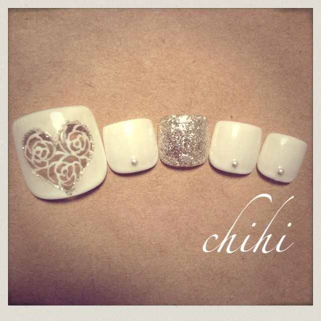 Bridal pedicure colors not fake nails