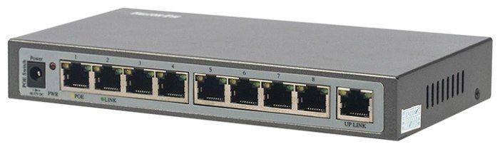 PoE-коммутатор Falcon Eye FE-108E-POE FE-108E-POE Сетевой коммутатор Falcon FE-108E-POE на 8 портов 10/100 Мбит/с (IEEE802.3u 100BaseTX) из них 8 c поддержкой PoE (IEEE802.3af) до 15,4Вт на порт (HI POE). Суммарная мощность потребителей 130 Вт, таблица МАС адресов - 4К, пропускная способность 1,6 Гбитс. Технические характеристики:Единица измерения: 1 штГабариты (мм): 10x10x8Мощность Адаптер питания: 48-57V DC Расход: 130W Сетевые интерфейсы Сетевые интерфейсы: 1~8 port:10/100Mbps POE…