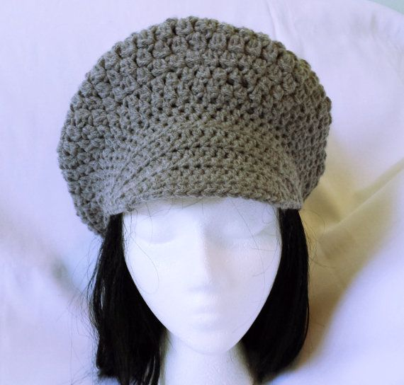 Hey, I found this really awesome Etsy listing at https://www.etsy.com/listing/223078005/crochet-newsboy-hat-slouchy-brimmed