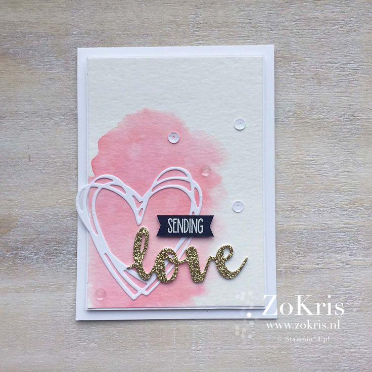 Stampin' Up - Sunshine Sayings, Sunshine Wishes, #watercoloring - ZoKris