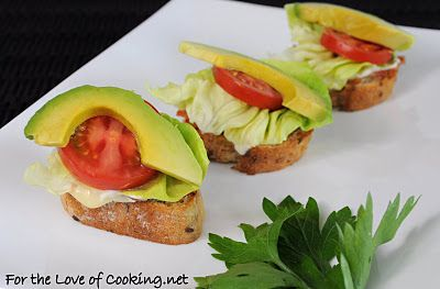 ... Cooking » B,B,L,T,A Bites (Brie, Bacon, Lettuce, Tomato, and Avocado