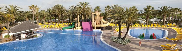 It is a large pool in which the whole family can enjoy themselves.