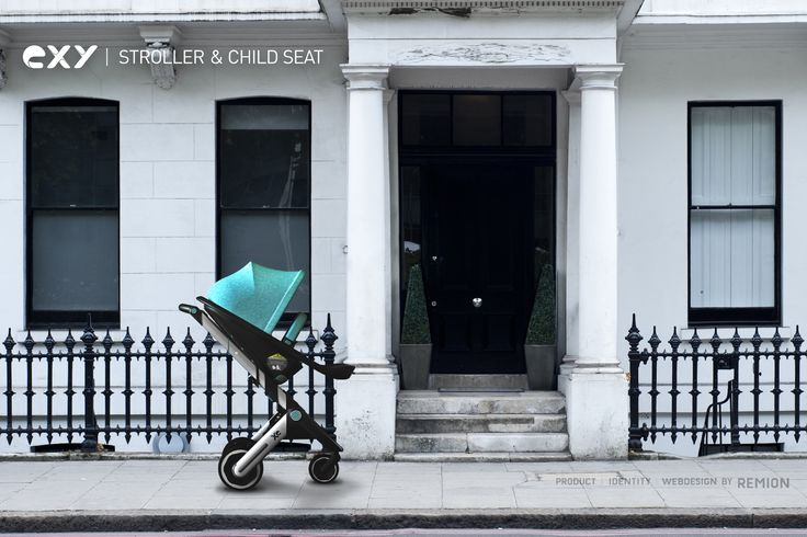 XE Stroller and Child Seat on the street in New York, Industrial Design by REMION, Budapest