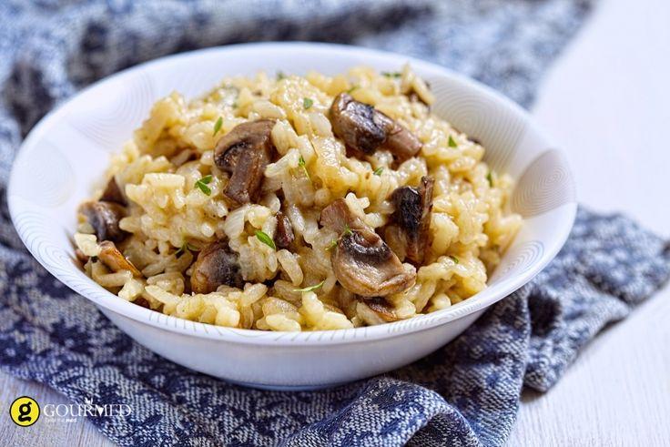 Ρύζι με μανιτάρια, μπανάνες και σταφίδες - gourmed.gr