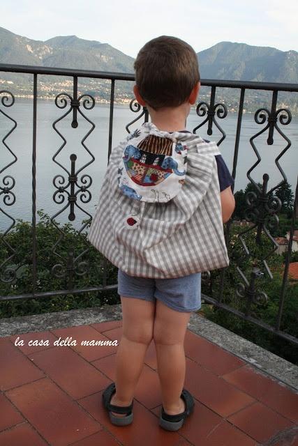 sacchetto zaino per l'asilo