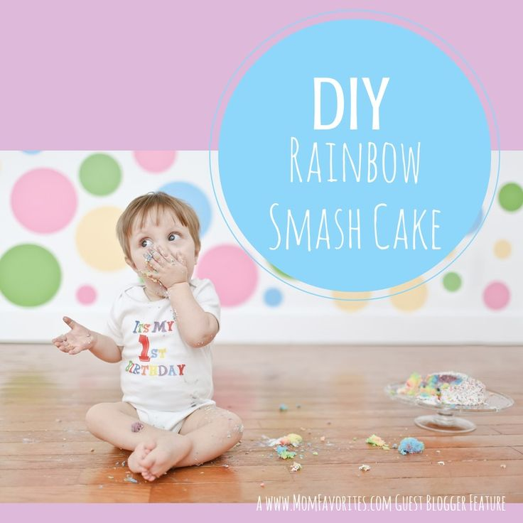 #DIY Rainbow #smashcake for litte one's first birthday! @rsparenthood @momfaves