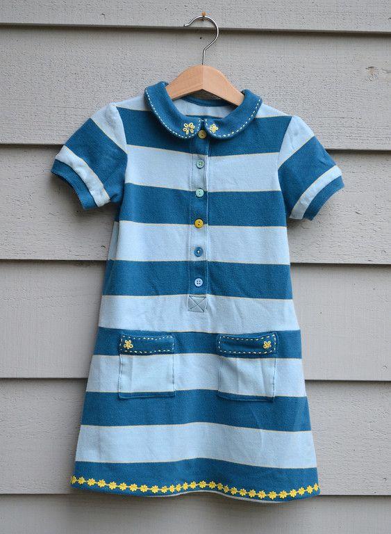 adult shirt to toddler dress