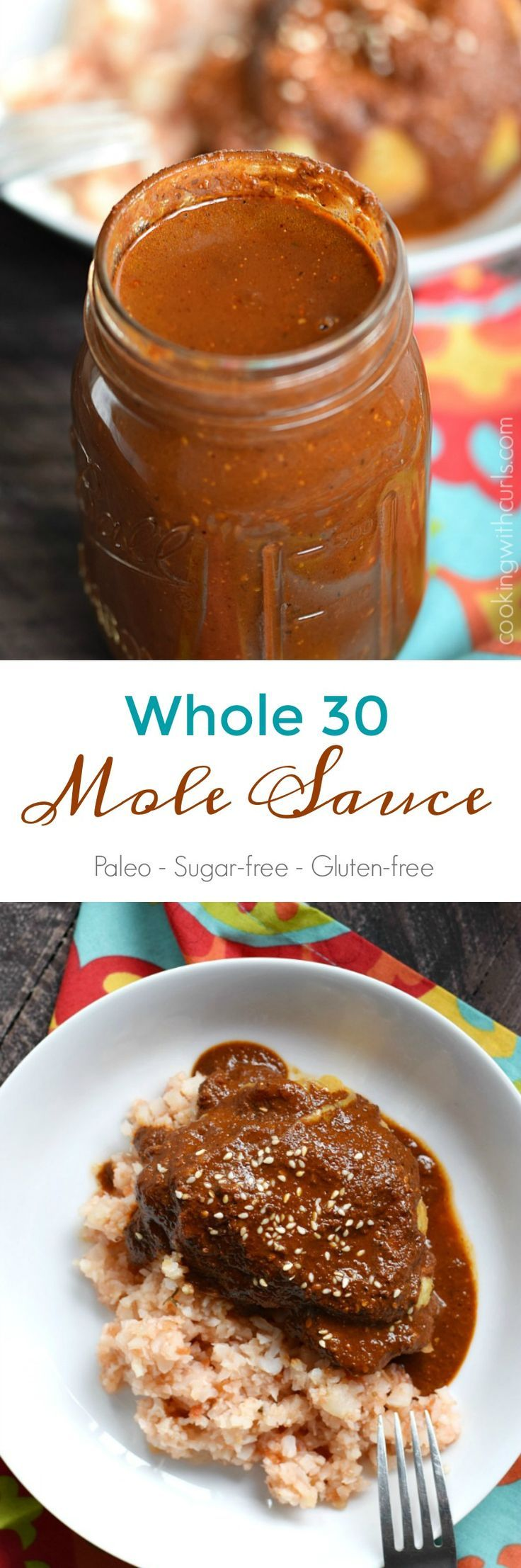 Your family and friends will never guess that this Whole 30 Mole Sauce is healthy, because it is so rich and delicious | #Paleo: