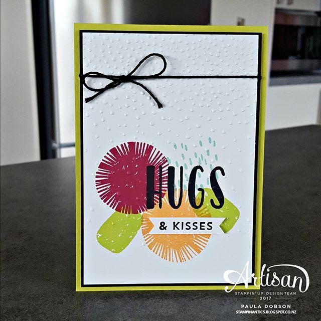 Set my team a challenge with these gorgeous colours, two of which are available June 1st - Lemon Lime Twist and Berry Burst. The other two, Pool Party and Peekaboo Peach are already firm favs with most of us! # paul #pauladobson #stampinantics #paperdivasteam #lovelyinsideandoutstampset