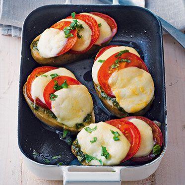 Backkartoffeln mit Pesto