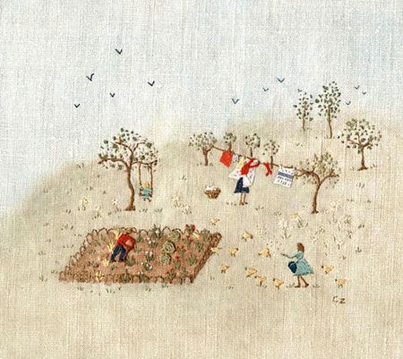 """Caroline Zoob: The Allotment"" ❤ her sweet homey embroideries & everything she does"