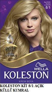Koleston 2017 Saç Renk Kartelası - Koleston açık küllü kumral saç boyası
