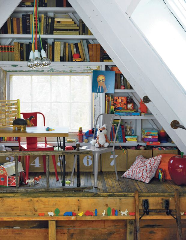 attic playroom #decor #quartoinfantil