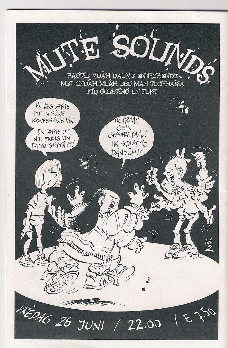 Striptekening Haagse Harrie MuteSounds 2009