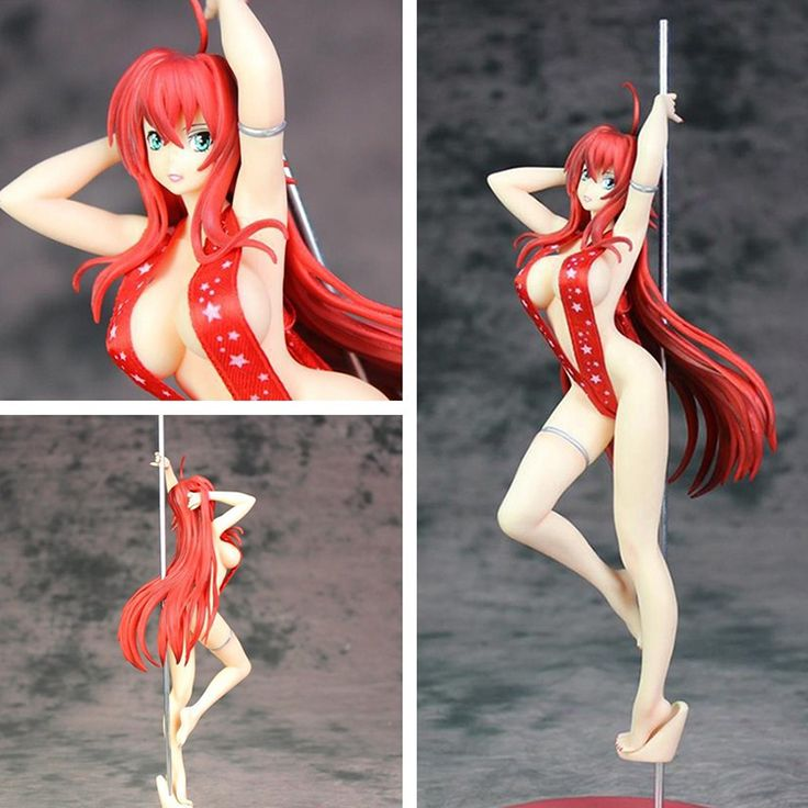High School DxD Rias Gremory Pole Dance Ver. (Soft Chest) 1/6 Scale Sexy Adult PVC Figure Collectible Model Toy #Affiliate