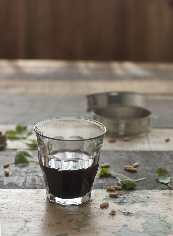 Preparin raspberry and wine dressing. | Sweet and Sour - Vir