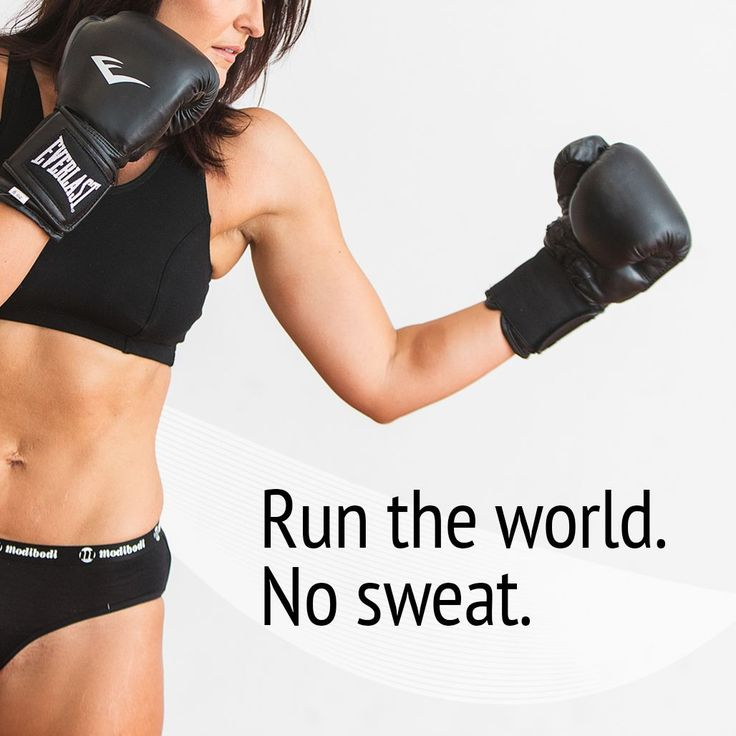 Smash your workout. Sweat is therapeutic & no workout should ever be compromised by a little leak.