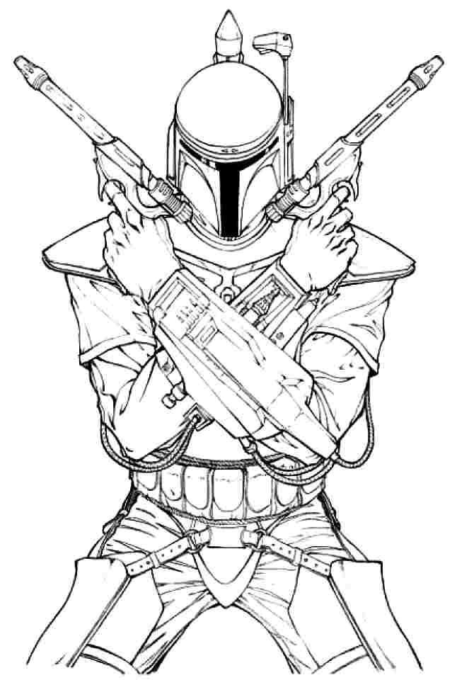 boba fett - Boba Fett Coloring Pages Printable