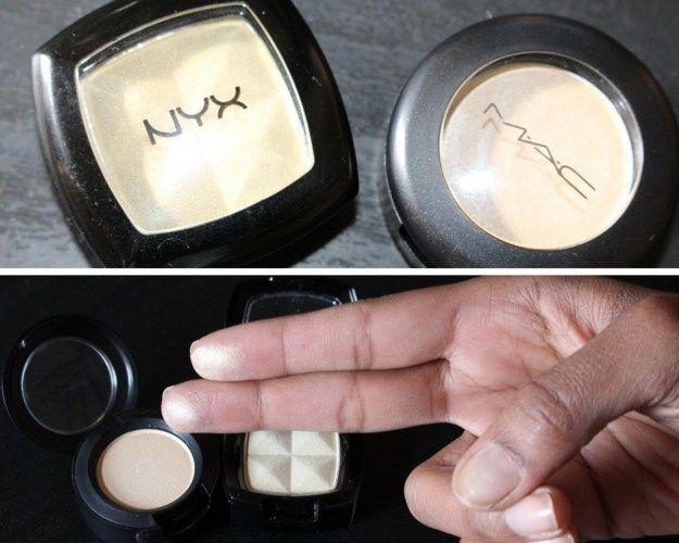 MAC Nylon Eyeshadow Highlighter Drugstore Dupe | Makeup Tutorials http://makeuptutorials.com/mac-drugstore-makeup-dupes