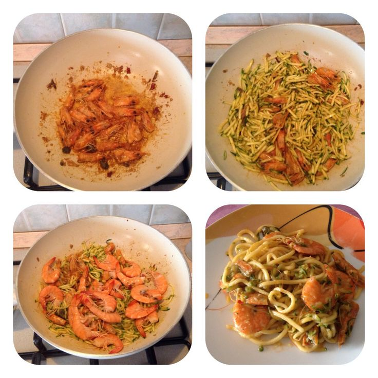 Tagliolini zucchine e gamberetti