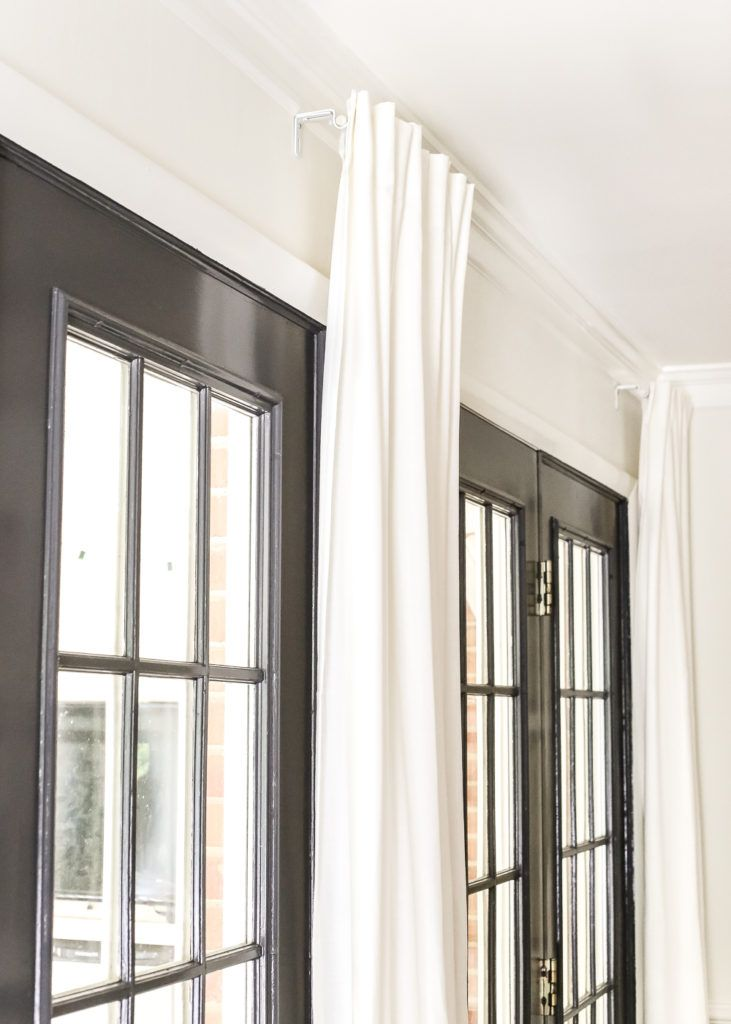 How To Fake A Long Curtain Rod Curtains Living Room Long