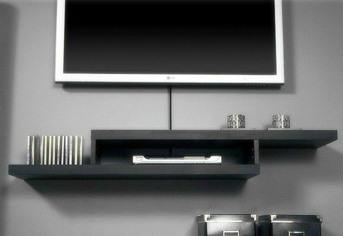 brief shelf diaphragn shelf tv set top box rack wall mount. Black Bedroom Furniture Sets. Home Design Ideas