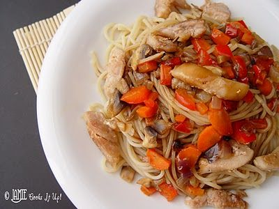 Teriyaki Chicken and Noodle Bowl from Jamie Cooks It Up!