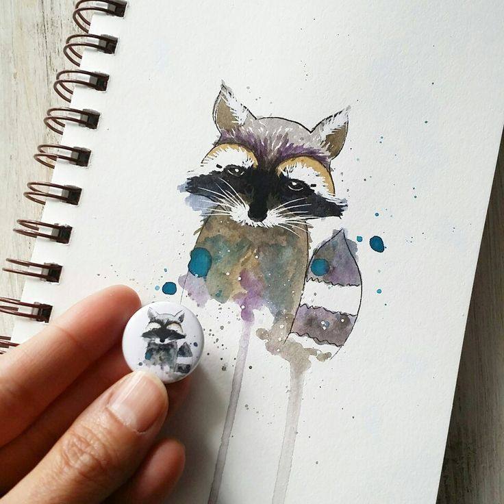Racoon watercolor Cuts2luv flair