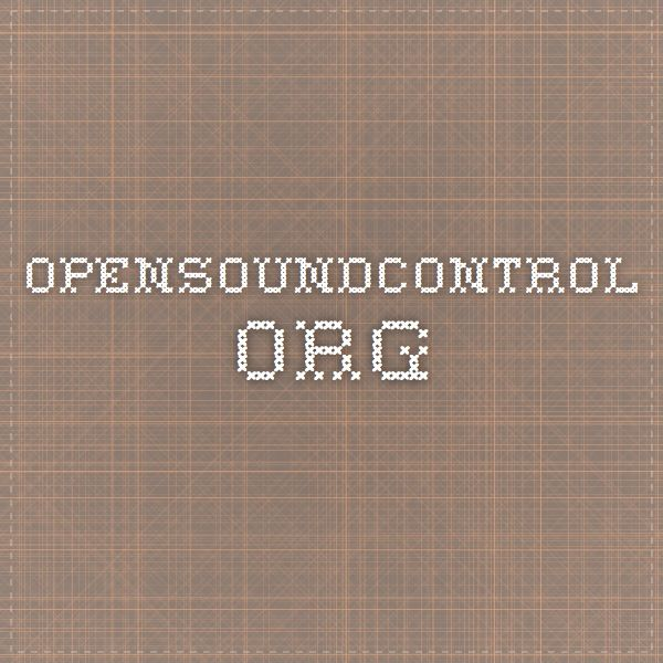 opensoundcontrol.org