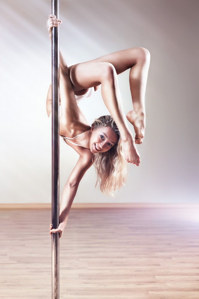 Stripper pole exercise video