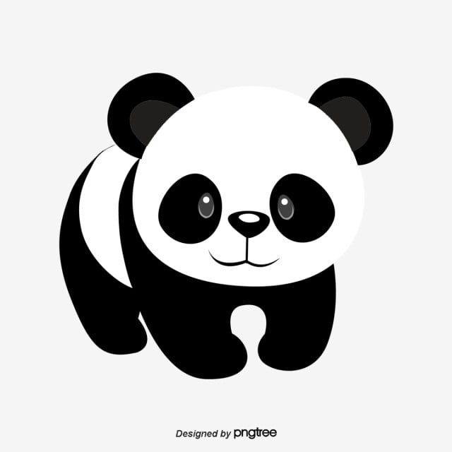 Cute Black And White Panda Animal Lovely National Treasure Png Transparent Clipart Image And Psd File For Free Download In 2020 Black And White Cartoon Animal Clipart Black And White Sketches
