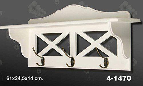DonRegaloWeb - Perchero de pared con repisa de madera con 3 ganchos de metal en color blanco decapé DonRegaloWeb http://www.amazon.es/dp/B00VWZRJGK/ref=cm_sw_r_pi_dp_Qk-ywb19TBKCF