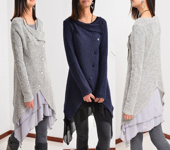 Moon Snow  light knit jacket cardigan and tunic by idea2lifestyle